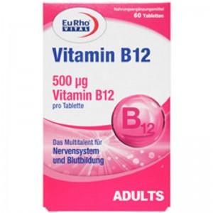 قرص ویتامین ب12 یوروویتال 60 عددی