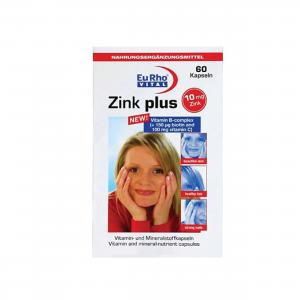 کپسول زینک پلاس با ویتامین ب کمپلکس 10 میلی گرم یورو ویتال