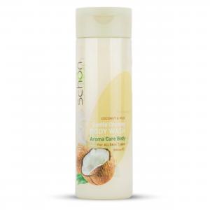 شامپو بدن کرمی مغذی شیر نارگیل شون مناسب برای انواع پوست