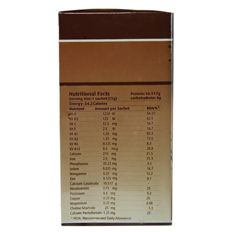 پودر مکمل غذایی وی ام پروتئین شکلاتی  ایران دارو 150 گرم 10 عدد ساشه