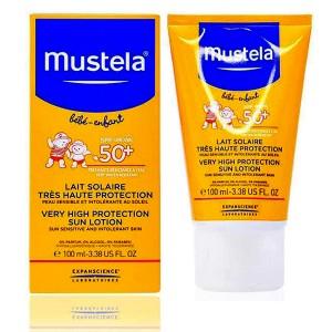 لوسیون ضد آفتاب کودکان SPF50 موستلا 100 میلی لیتر