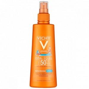 اسپری ضد آفتاب صورت و بدن کودکان ویشی SPF50 حجم 200 میل
