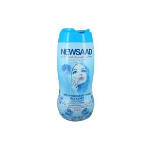 دستمال مرطوب پاک کننده آرایش پوست حساس قوطی 64 عددی نیوساد