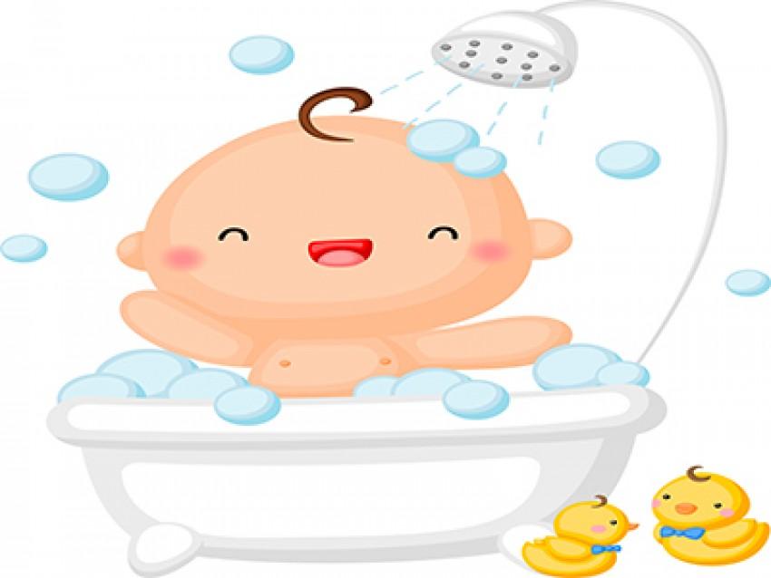 اولین حمام کودک