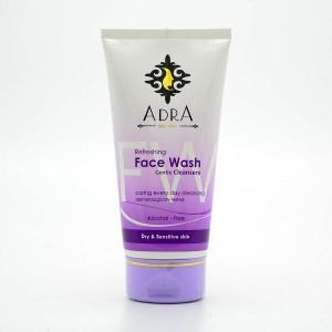 ژل شستشوی صورت آدرا مناسب پوست های خشک و حساس حجم 150 میل