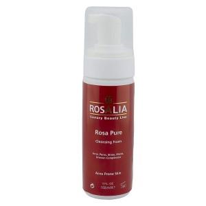 فوم پاک کننده پوست چرب رزالیا مدل Rosa Pure حجم 150 میلی لیتر