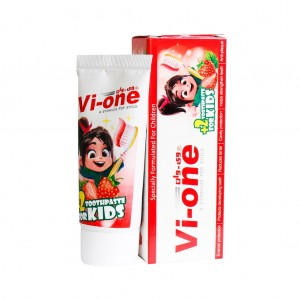 خمیر دندان کودک با طعم توت فرنگی وی وان 60 گرم
