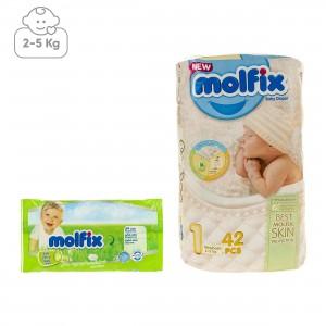 مولفيکس 1 پوشک بچه 2تا5 کيلوگرم 42عددي