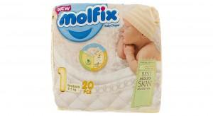 پوشک کامل بچه سایز 1 (2 تا 5 کیلو گرم) 20 عددی مولفیکس