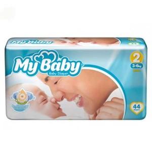 پوشک بچه مای بی بی سایز دو 2 (3 تا 6 کیلوگرم) بسته 44 عددی