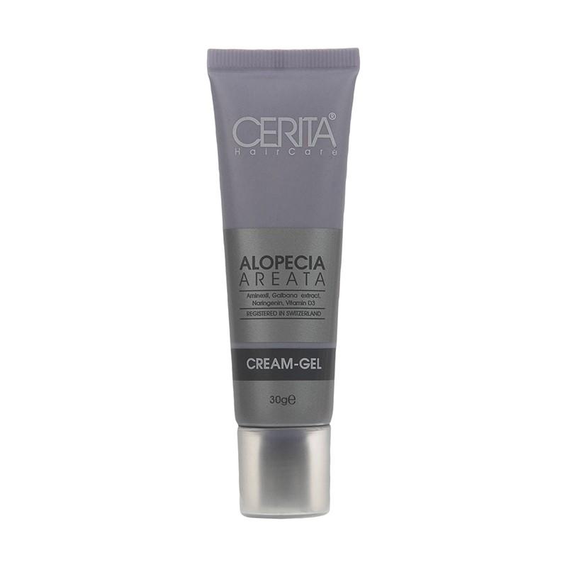 تصویر ژل کرم سریتا مناسب موهای دارای ریزش سکه ای حجم ۳۰ گرم Cerita Alopecia Areata Cream Gel 30gr