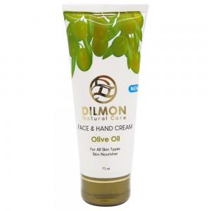 کرم مرطوب کننده دست و صورت دیلمون حاوی روغن زیتون و روغن بادام شیرین حجم 75میل