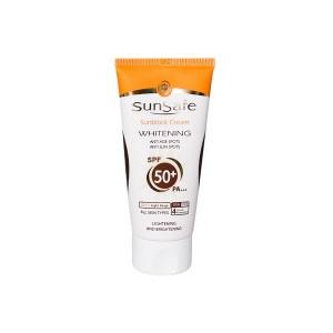 سان سيف کرم ضد آفتاب رنگي روشن کننده بژ روشن SPF50
