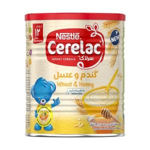 سرلاک گندم و عسل به همراه شیر نستله مناسب کودکان از پایان ۱۲ ماهگی ۴۰۰ گرم