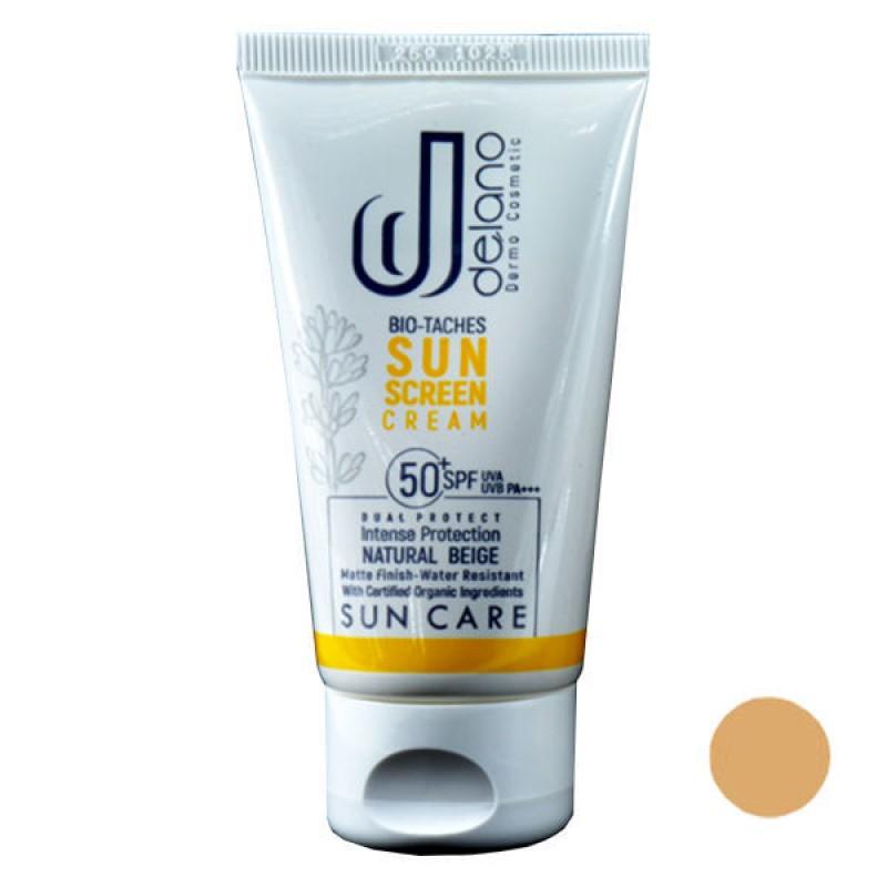 ضد آفتاب رنگی  SPF50 پوست نرمال و خشک دلانو